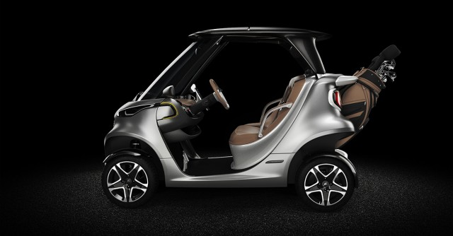 Garia Golf Car inspired by Mercedes-Benz Style - now for sale ... on street-legal lsv off-road, street-legal vehicles, ezgo carts, street-legal utility carts, electric utility carts, california street-legal electric carts, street-legal kart plans, electric passenger carts, street-legal yamaha rhino, street-legal carts florida, street-legal electric carts prices, street-legal atv, electric powered street-legal carts, street legal gas carts, lsv carts,